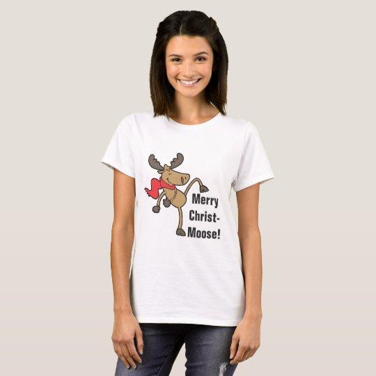 Merry Christmoose Cute Moose Christmas T-Shirt
