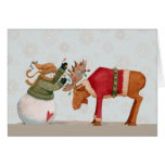Merry Christmoose - Greeting Card