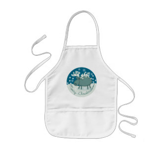 Merry Christmoose Kids Apron