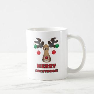 Merry Christmoose! Basic White Mug