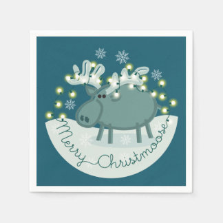 Merry Christmoose Paper Napkins Disposable Serviette
