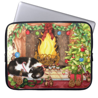 Merry Christmouse - Cute Holiday Animal Art Laptop Sleeve