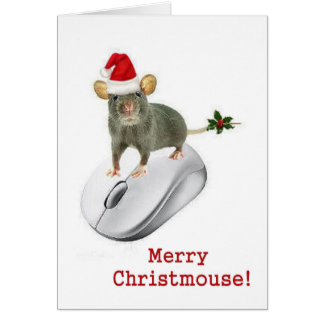 """""""Merry Christmouse!"""" squeaks a mouse Card"""