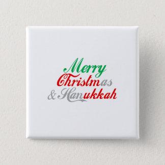 MERRY CHRISTMUKKAH 15 CM SQUARE BADGE