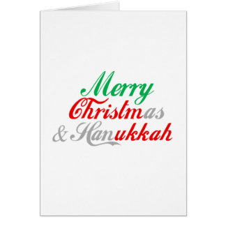 MERRY CHRISTMUKKAH CARD