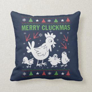 Merry Cluckmas Cushion