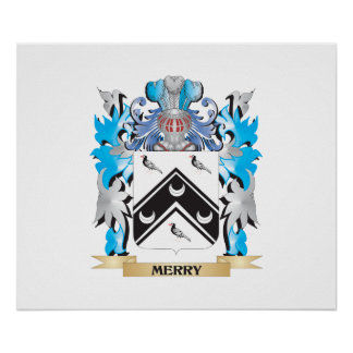 Merry Coat of Arms - Family Crest Poster