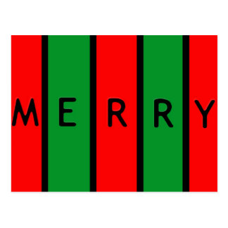 """Merry Colorful"" postcard"