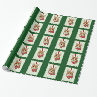 """Merry Corgi Christmas"" wrapping paper"