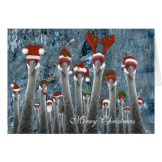 Merry Cranes Among Us Card