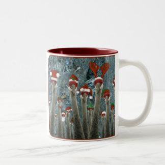 Merry Cranes Among Us Two-Tone Coffee Mug
