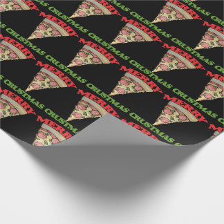 Merry Crustmas Christmas pizza Wrapping Paper