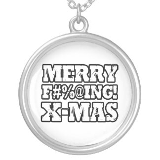 MERRY EFFING XMAS - png Pendants