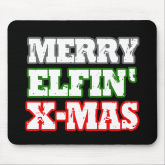MERRY ELFIN XMAS - png Mouse Pad