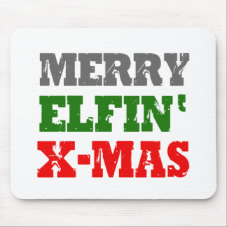 MERRY ELFIN XMAS SIGN -.png Mouse Pad
