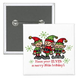 Merry Elves 15 Cm Square Badge