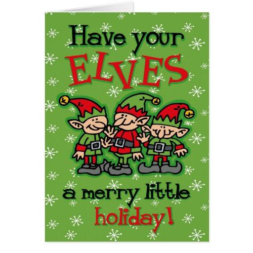 Merry Elves Christmas Card
