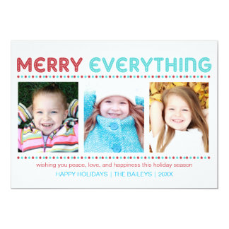 Merry Everything Blue and Red Photo Card
