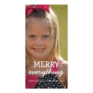 Merry Everything Christmas Photo Holiday Greetings Card