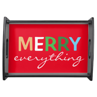 """""""Merry Everything"""" Christmas Serving Tray"""