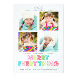 Merry Everything Collage Photo Holidays Card Personalised Invites