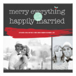 Merry Everything Happily Married Holiday Greetings