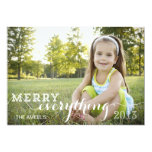 Merry Everything | Holiday Photo Card Custom Invitation
