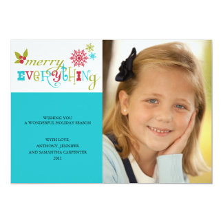 Merry Everything - Multi Cultural Holiday 13 Cm X 18 Cm Invitation Card