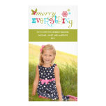 Merry Everything - Multi Cultural Holiday Personalized Photo Card