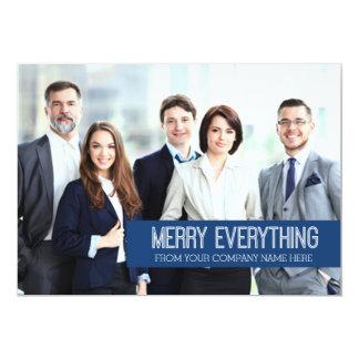 Merry Everything Photo Card Business Blue 13 Cm X 18 Cm Invitation Card