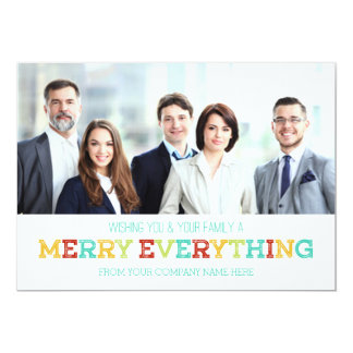 """Merry Everything Photo Card Business 5"""" X 7"""" Invitation Card"""