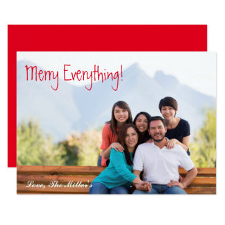 Merry Everything! Photo Card   Simple & Chic