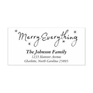 Merry Everything Stars Christmas Holiday Address Self-inking Stamp
