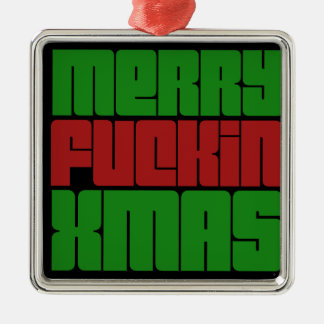 Merry Fin Xmas Christmas Ornament