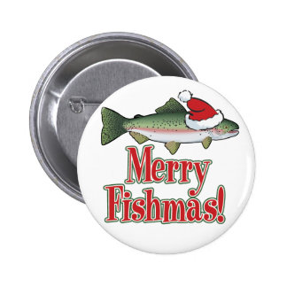 Merry Fishmas 6 Cm Round Badge