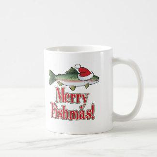 Merry Fishmas Basic White Mug