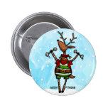 merry fitness reindeer buttons