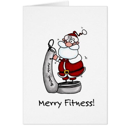 Merry Fitness Santa Card