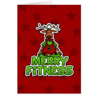 Merry Fitness - Yoga - Reindeer in Lotus Posture Card