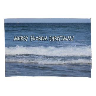 Merry Florida Christmas Over The Ocean Pillowcase