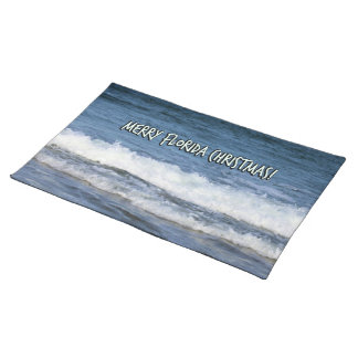 Merry Florida Christmas Over The Ocean Placemat