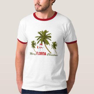 Merry Florida Christmas, snowman under palms T-Shirt