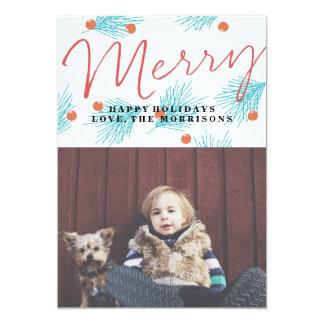 Merry Foliage 13 Cm X 18 Cm Invitation Card