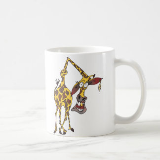 merry giraffe with earring and gold tooth coffee mug