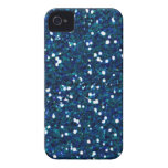 -merry-glitter-blue BRILLIANT ROYAL BLUE SPARKLES iPhone 4 Cover
