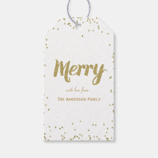 Merry & glitter gift tags