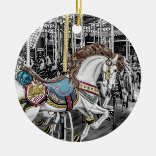 Merry Go Round Carousel Christmas Ornament