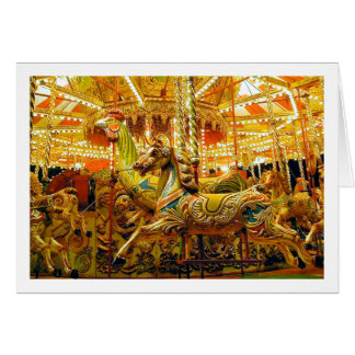 Merry-go-round / Carousel Greeting Card