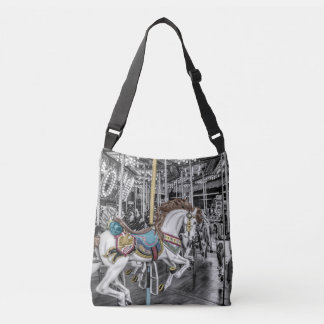 Merry Go Round Carousel Photography Crossbody Bag