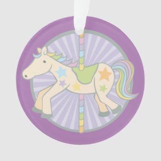Merry-Go-Round Carousel Pony in Purple